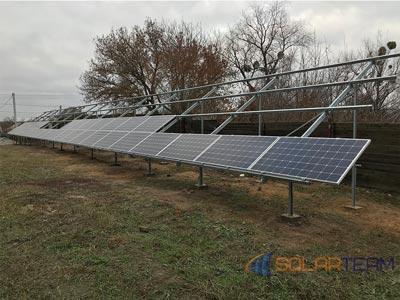 На фотографии солнечные панели в Богуславе