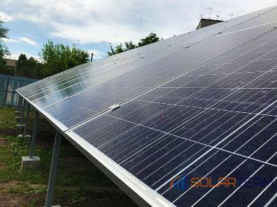 На фотографии солнечные батареи в Криворожском районе