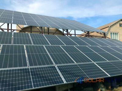 Солнечные батареи в г. Кривой Рог. Наземная СЭС