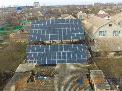 Солнечные панели в г. Кривой Рог