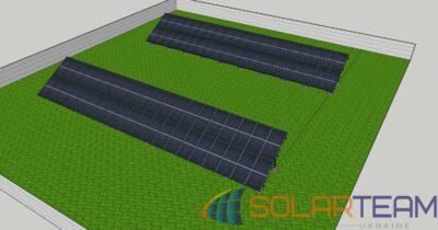 3D модель солнечной электростанции SolarTeam в Лозоватке