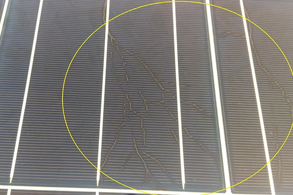 Микротрещины на солнечных панелях