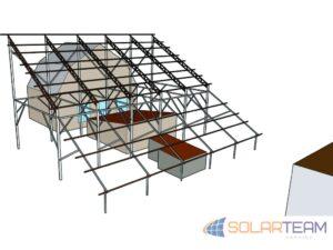 3D проект солнечной станции 30 кВт