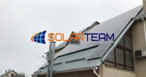 Крышная солнечная электростанция в Днепре